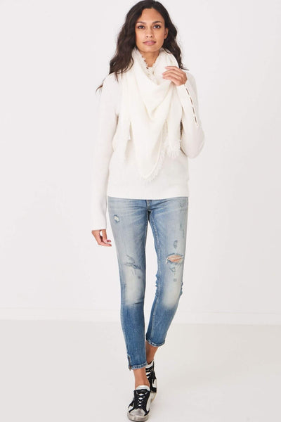 Repeat 100% Cashmere Wrap in Cream Front