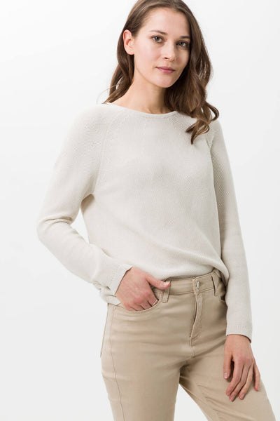 Brax Lisa 34-4074 Almond Relaxed Fit Jumper