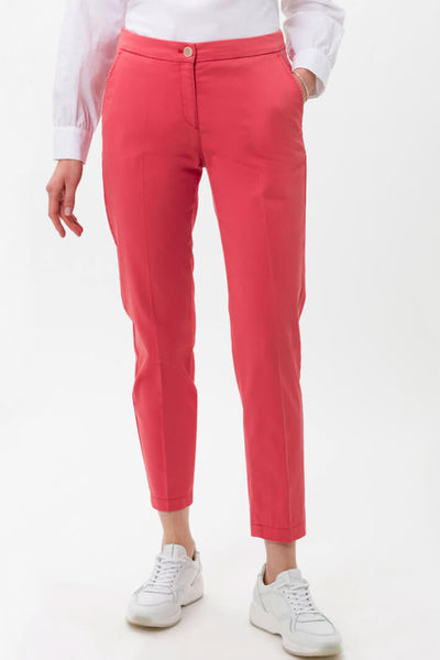 Brax Maroon 74-1557 Coral City Cropped Trousers