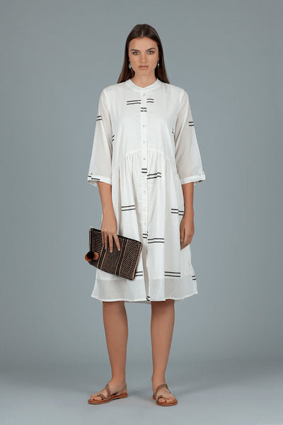 Dream AN281A White Lerwick Short Shirt Dress
