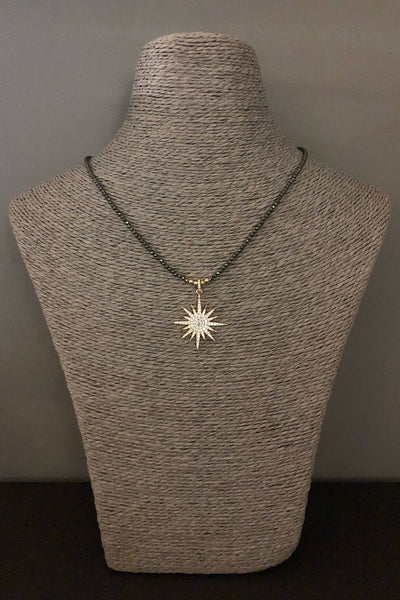 iCandi Rocks Lola Star on Pyrite Necklace