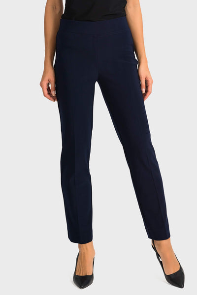 Joseph Ribkoff 143105 Classic Straight Leg Navy Trousers Front