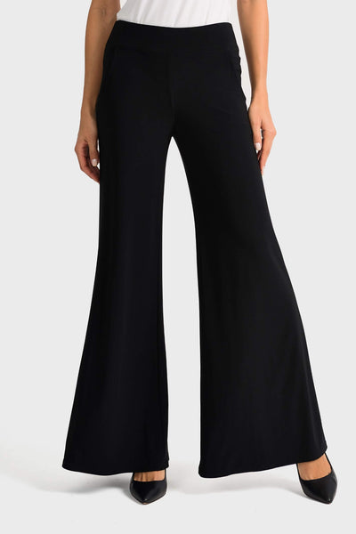 Joseph Ribkoff 161096 Wide Leg Black Trousers Front