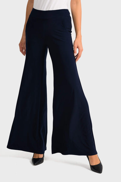 Joseph Ribkoff 161096 Wide Leg Navy Trousers Front