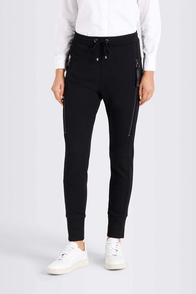 MAC Future Sporty Pull-On Black Trousers Front