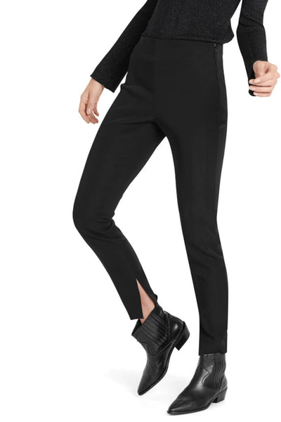 Marc Cain Slim Leg Stretch Trousers in Black Front