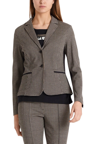 Marc Cain Checked Jersey Jacket Front