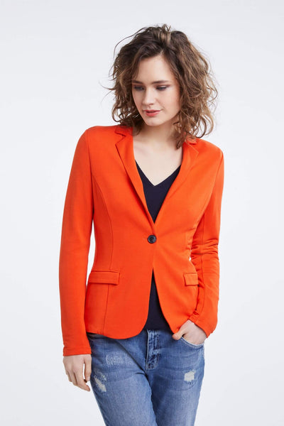 Oui Red Blazer Style Jacket Front