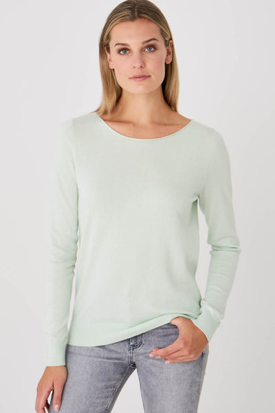 Repeat Cashmere 400600 Pistache Green Jumper