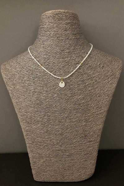 iCandi Rocks Seed Pearl Zircon Necklace