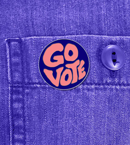 GROOVY 'GO VOTE' – PIN