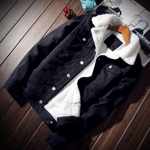 OakHenley Denim Fleece Jacket