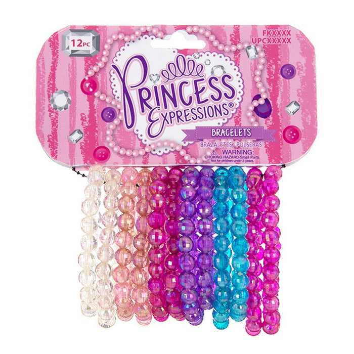 Princess Expressions 12-Piece Set of Beaded Bracelets