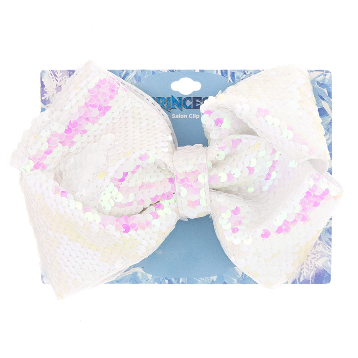 Ice Princess Expressions Sequin Bow Salon Clip