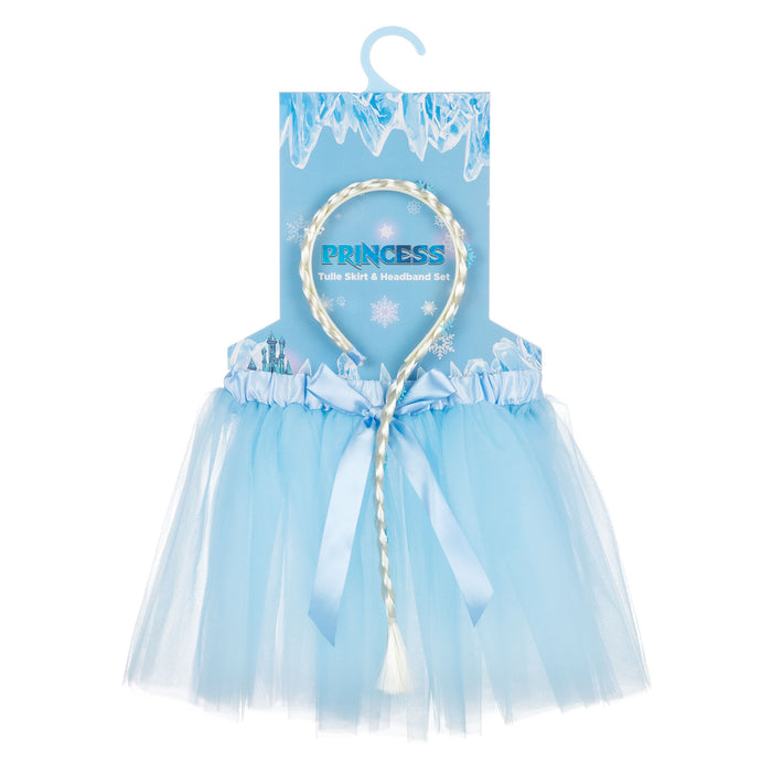 Ice Princess Expressions Tulle Skirt & Headband Set