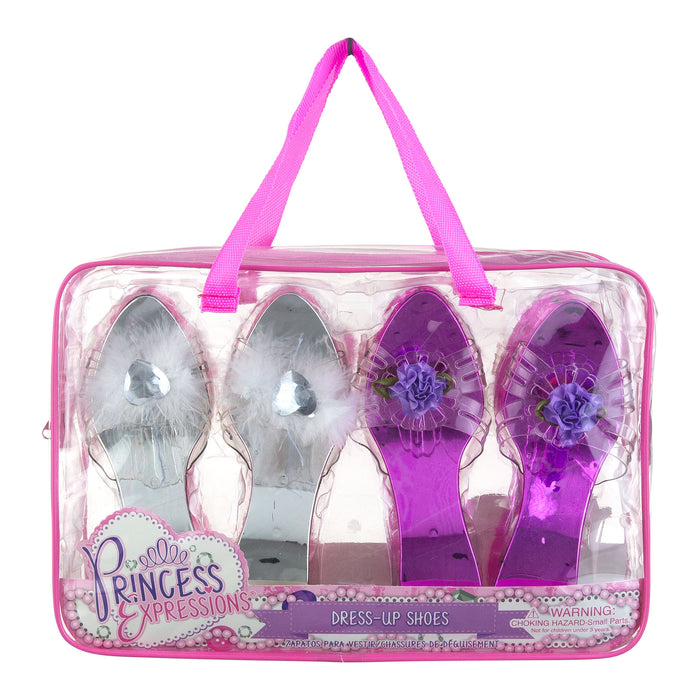 Ice Princess Expressions 4-Pack of Princess Dress Up Shoes