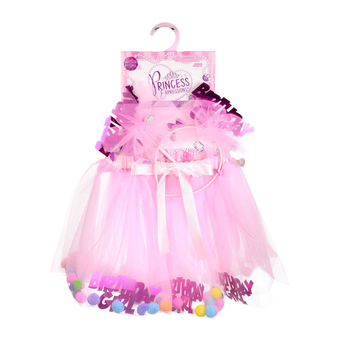 Princess Expressions 3-Piece Birthday Girl Costume in Pink