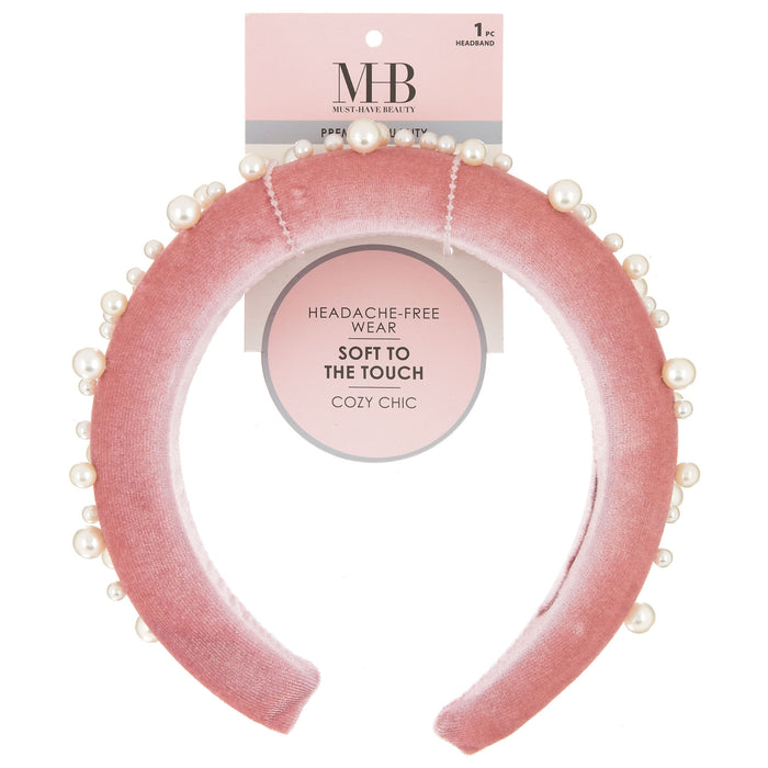 MHB Must-Have-Beauty Luxe Headbands - Velvet Pearl