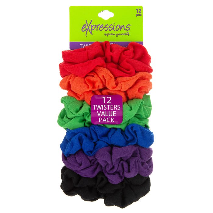 Expressions 12-Piece Scrunchie Twisters in Bright Colors