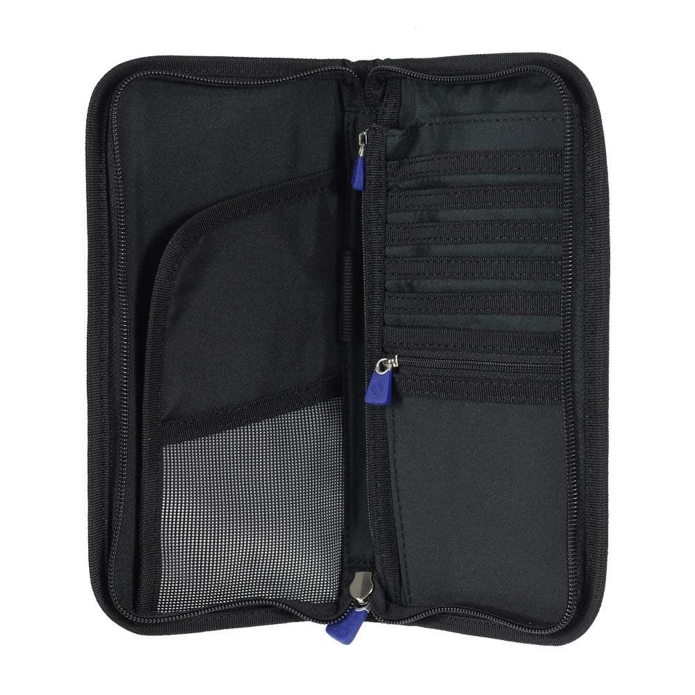 Portapasaporte Global Travel Accessories Zipped Travel Wallet Rfid Black