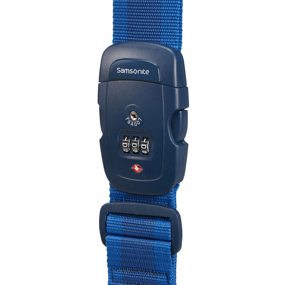 Candado GLOBAL TRAVEL ACCESSORIES LUGGAGE STRAP/TSA LOCK MIDNIGHT BLUE