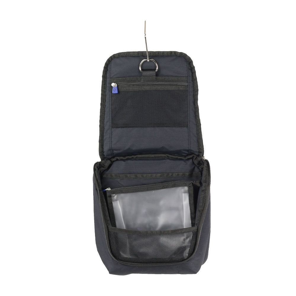 Neceser Global Travel Accessories Hanging Toiletry Kit Black