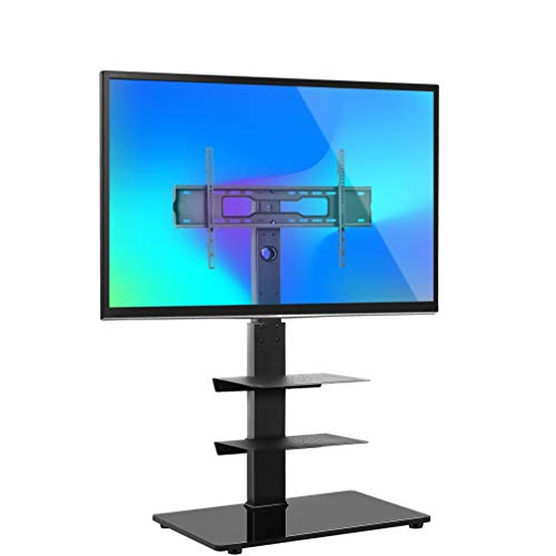 YOMT Floor TV Stand Base with Shelves for Most 32-65 inch LED