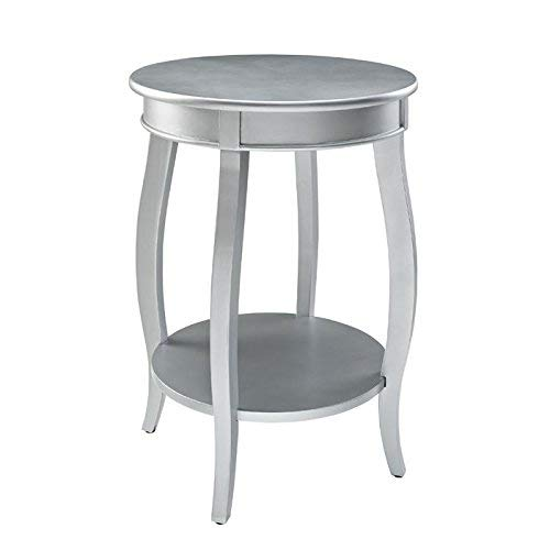 Powell Furniture Powell Round Shelf, Silver Table,