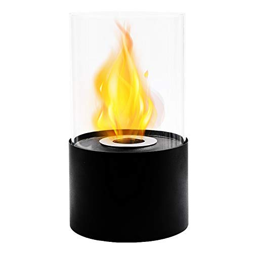 JHY DESIGN Tabletop Fire Bowl Pot|Indoor/Outdoor Portable Tabletop Fireplace–Clean-Burning Bio Ethanol Ventless Fireplace