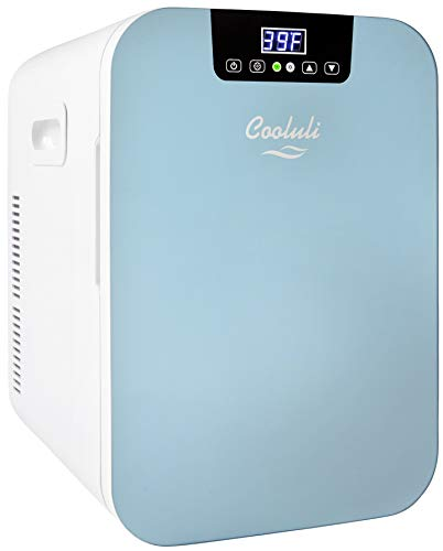 Cooluli Concord Blue 20 Liter Compact Cooler Warmer Mini Fridge