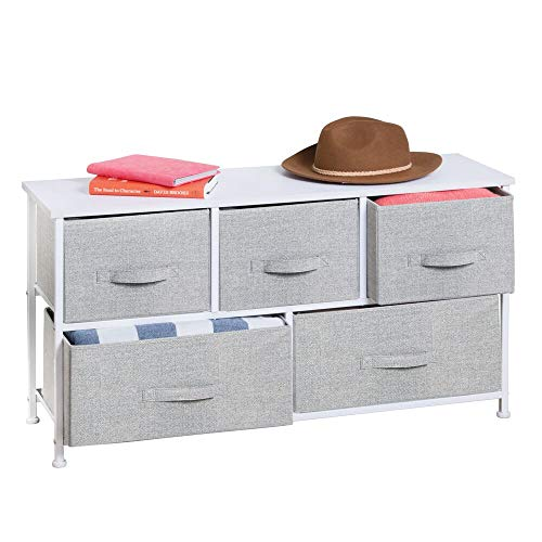 Wide 5 Drawers Dresser Storage Tower Unit - Home Furnishing Goods