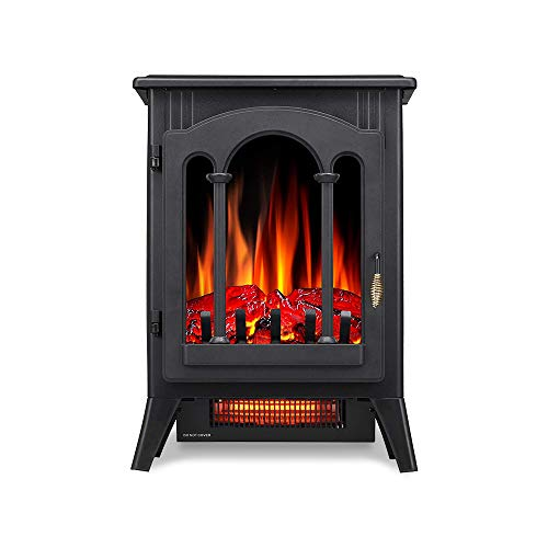 Kismile 3D Infrared Electric Fireplace Stove, Freestanding Fireplace Heater