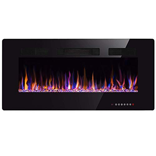 Xbeauty 30 inch Wall Mounted Recessed Electric Fireplace Insert