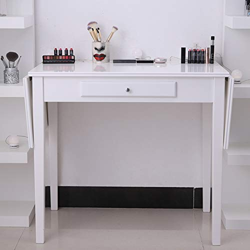 Chende White Makeup Vanity Table with Drawer