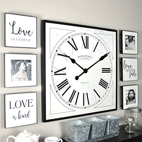 FirsTime & Co. Love Frame Gallery Set Wall Clock, 20