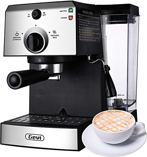 Espresso Machines 15 Bar Fast Heating Coffee Machine with Milk Frother