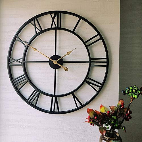 Evursua 24 inch Thicken & Heavy Large Metal Wall Clocks