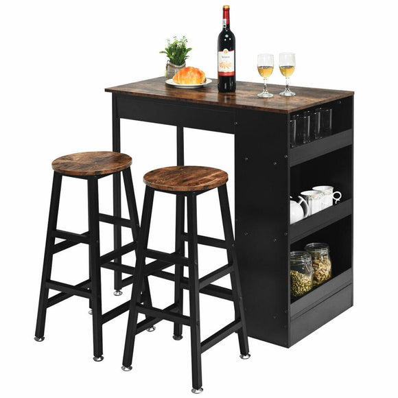 3pc. Bar Table Set - Home Furnishing Goods