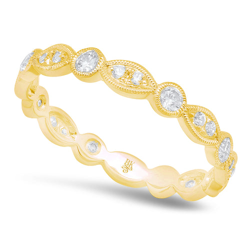 All Round Diamond Marquise and Circle Eternity Band | Beverley K