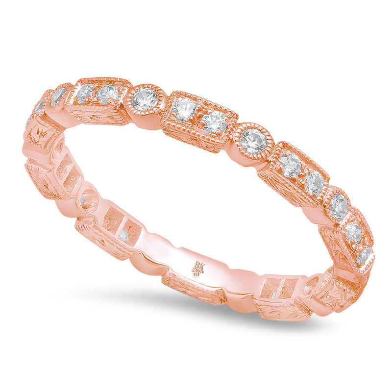 All Round Diamond Rectangle and Circle Eternity Band | Beverley K