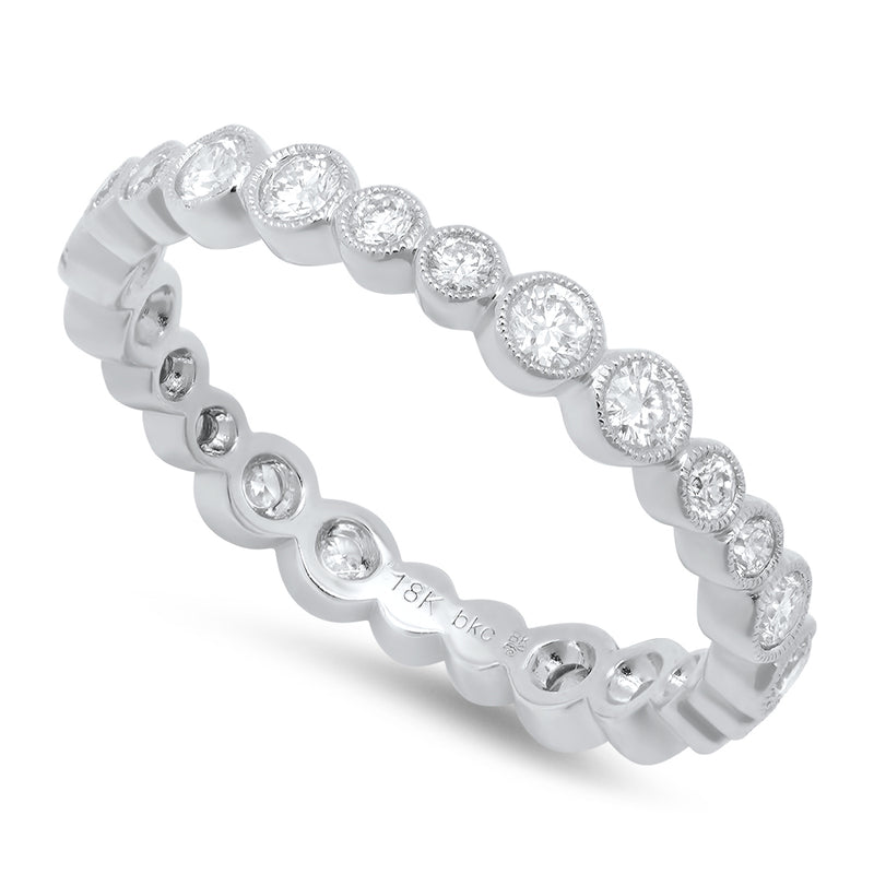 Alternating Double Round Diamonds Eternity Band | Beverley K