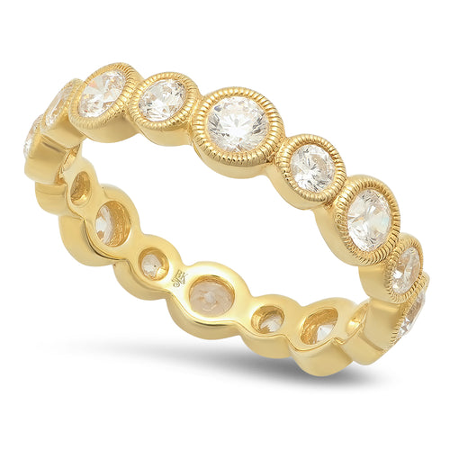 Alternating Size Round Diamond Eternity Band-Large Version | Beverley K