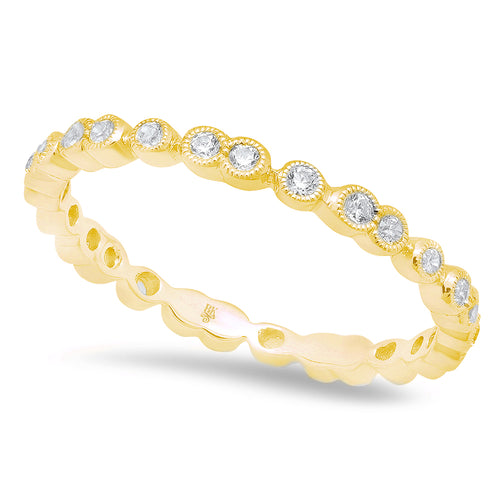 Alternating Single and Double Round Diamond Eternity Band | Beverley K