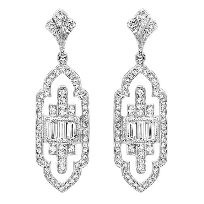 Diamond Art Deco Earrings
