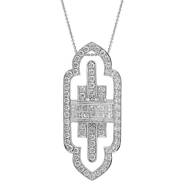 Diamond Art Deco Necklace | Beverley K