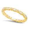 Baguette and Round Diamond Eternity Band-2mm | Beverley K