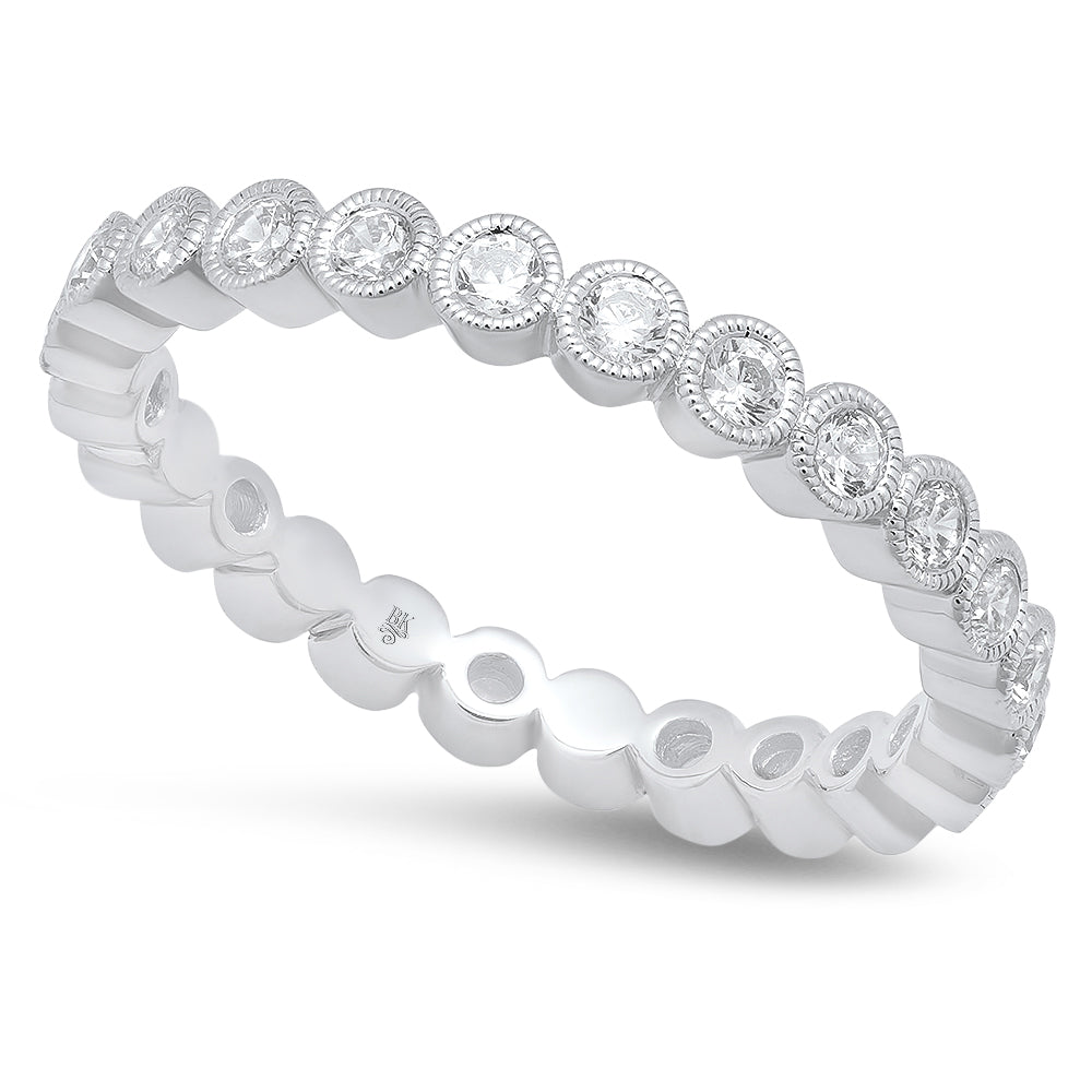 Bezel Set Round Diamond Eternity Band- 2.5mm | Beverley K