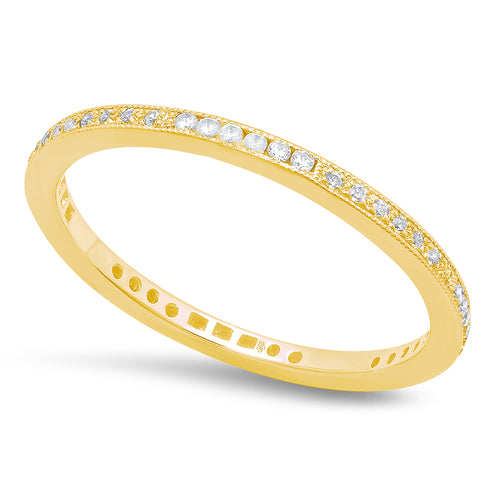 Channel and Prong Set Diamond Eternity Band | Beverley K