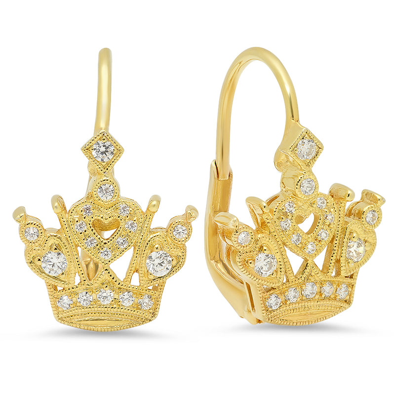 Crown Diamond Earrings | Beverley K