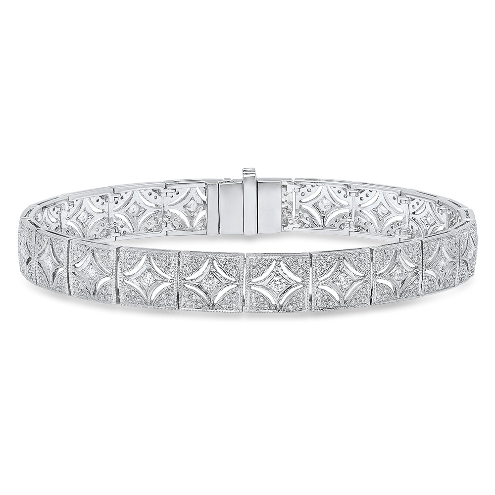 Cutout Design Diamond Bracelet | Beverley K